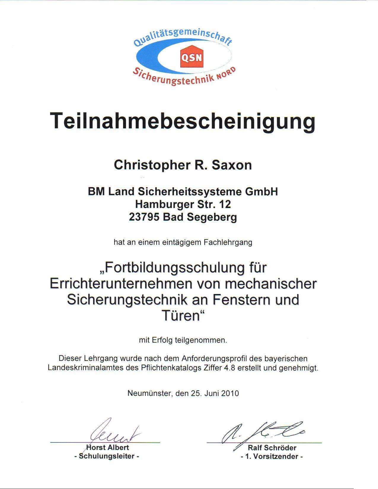 2010-06-25-QSN-Fortbildungsschulung