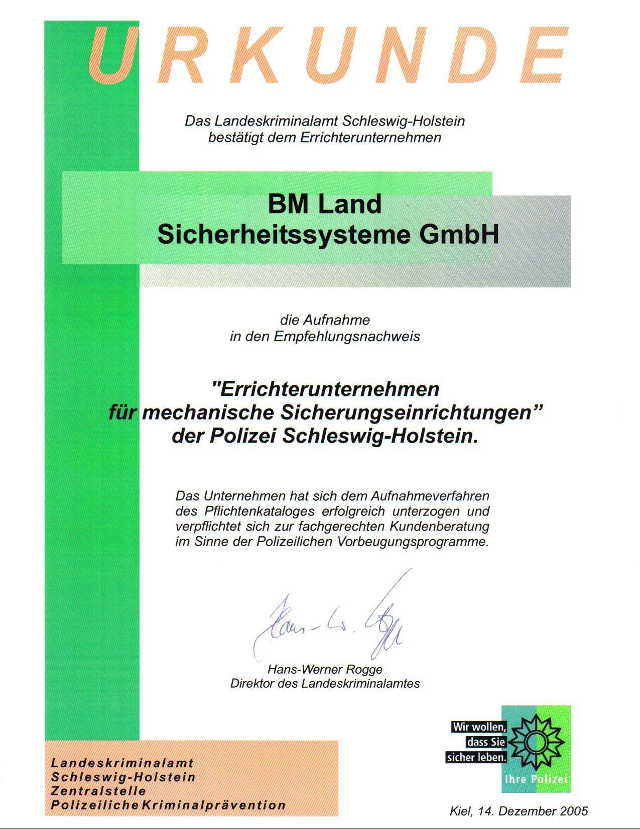 LKA-Zertifikat